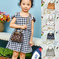 Wholesale kids shoulder bags girls for sale - Group buy Kids handbags colors designer baby Mini Purse shoulder bag Teenager children Girls Messenger Bags Chain Bag Princess rectangl Bag BJY640