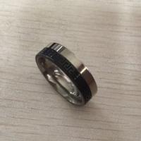 ingrosso grandi anelli di mens-Anello in argento con chiave greca Punk Rock Style Anello in argento con moda maschile Hip Hop USA Grande formato Retro Anelli in acciaio inossidabile argento nero