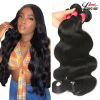 Wholesale tangle free hair weave for sale - Group buy 100 Brazilian Hair Unprocessed Human Hair No Tangle Body Wave Brazillian Weave Bundles Human Hair Natural Color B