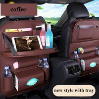 Wholesale car travel tray resale online - Auto Car Seat Back Multi Pocket Storage Bag Organizer Tray Holder Accessory Multi Pocket Travel Hanger Backseat Organizing Pocket