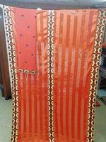 ingrosso tessuto di raso di seta arancione-tessuto di seta pura merletto svizzero del voile in tessuto arancione del merletto bruciato svizzera tessuti di pizzo nigeriano tessuto di alta qualità 7yard del raso