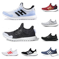 Wholesale lights resale online - 2019 GAME OF THRONES x ultra boost running shoes for men women White Walker triple black ultraboost mens trainer breathable sports sneakers