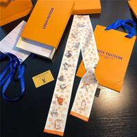 ingrosso legame di bowknot-Moda 2019 seta super soft doppio nastro di raso multi-funzionale moda foulard bowknot cravatta capelli