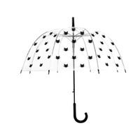 Wholesale ladies long handles umbrellas resale online - Clear Sunproof and Rainproof UmbrellaLarge Clear See Through Dome Umbrella Ladies Transparent Walking Rain Brolly