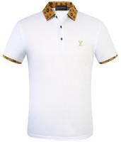homens camiseta seca venda por atacado-LOUIS VUITTON Camisa Anti-Rugas T-shirt de manga curta dos homens Respirável Secagem Rápida dos homens T-shirt