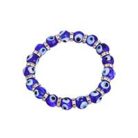 bracelet de mauvais oeil pour les hommes achat en gros de-Nouveau mode bleu eyeball string bracelet musulman mauvais œil diamant bague perle bracelet hommes et femmes amitié cadeau bijoux en gros