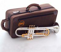 trompeteninstrument groihandel-Bach LT180S-72 B-Super-Trompete Instrumente Oberfläche Goldenes Messing versilbert Bb Trompeta Professionelles Musikinstrument