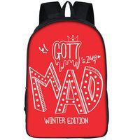 photos d'hiver en plein air achat en gros de-Got7 sac à dos édition d'hiver sac à dos Mad star cartable sac à dos photo de groupe sac d'école de sport sac d'école de plein air
