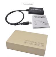 hdmi xbox one venda por atacado-USB 3.0 1080 P HD Video Game Cartão de Captura de Vídeo Conversor de Saída HDMI Live Streaming para XBOX One PS4 MAC Plug and Play
