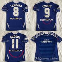 Wholesale 2011 TORRES MATA Star retro soccer jersey Lampard Drogba football shirts terry Classic Football Shirt Maillot de Foot