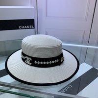 ingrosso signore paglia fedora-Cappello estivo da donna a tesa larga, stile estivo, floppy, piumino da sole a protezione solare