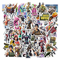 Wholesale jdm style sticker car resale online - 100pcs Mixed Fort nite Cartoon Toy Stickers for Car Styling Bike Motorcycle Phone Laptop Travel Luggage Cool Funny Sticker Bomb JDM Decals