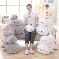 Wholesale 1pc cm Kawaii Lying Cat Plush Toys Stuffed Cute Cat Doll Lovely Animal Pillow Soft Cartoon Cushion Kid Christmas Gift