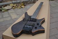 guitarra electrica china hecha al por mayor-Envío gratis nueva guitarra eléctrica sin cabeza Big John en color natural con cuerpo de aliso hecho en China F-3115