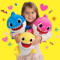 Wholesale wholesale gifts for girls for sale - 30cm Cute Soft Dolls Baby Cartoon Shark Toys With Music Cute Animal Plush Baby Toy Shark Dolls Singing English Song For Gift Children Girl