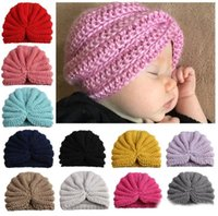 Wholesale indian knitting for sale - Group buy Ins Baby Girls Boy Wool hollowed Caps Kids Knitting Wool Crochet Hat Infant Toddler Boutique Indian Turban Spring Autumn