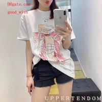 bc branco venda por atacado-2019 mulheres marca T-shirts branco Stick figura composição moda menina T-Shirt casual Camisetas mulher verão mulheres roupas BC-4