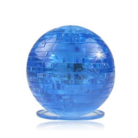 Wholesale toy planets resale online - Earth D Jigsaw Crystal Puzzle Toys Planet DIY Craft Gadget Model Kit