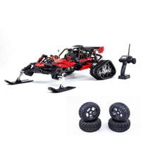 motor nitro para rc al por mayor-Rovan Baja305AS 1/5 2.4G RWD Snow Buggy Rc Coche 30.5cc Motor Con Rastreado + Ruedas redondas RTR Juguete