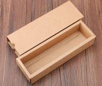 темно-картон оптовых-2019 темный цвет кофе / коричневая подарочная коробка бумаги Крафт, коробка ящика бумаги Крафт, пустая коробка коробки картонных коробок подарка