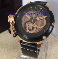 Wholesale flyback chronograph watch online - Mens luxury Miyota with smooth sweeping flyback chronograph L stainless steel case Stopwatch Basel world Watches