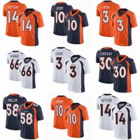 Wholesale Custom Mens Womens Youth Denver Jerry Jeudy Broncos Phillip Lindsay Drew Lock Bradley Chubb Melvin Gordon Courtland Sutton KJ Hamler jerseys