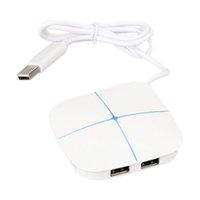 kart okuyucu dijital toptan satış-6-port 2-card Yuvası USB 2.0 Hub Splitter ile SD / TF Kart Okuyucu Masaüstü / Dizüstü Desteği Dijital Kamera / Yazıcı / Flash Sürücü