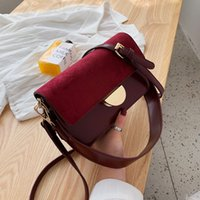 Wholesale messenger bag two straps resale online - 2019 Frosted cover women s wide strap messenger small fresh wild casual fashion ladies shoulder bag