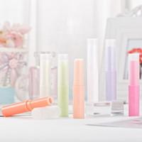 lábios lindos venda por atacado-Titular 4G 0,13 onças bonito Lip Balm Tubes 4ML vazio Lip Balm Tubes Desodorante Containers Lip Gloss Container com Caps