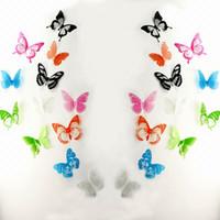 ingrosso case a farfalla per bambini-12pcs = 1set 3D Stickers murali farfalla adesivi murali in PVC multicolore per la TV Camera da letto per bambini casa decorazione della casa nuova moda ST023