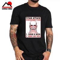 muscular japonês venda por atacado-Ataque Anime japonês no Titan Cosplay Ackerman Eren Cosplay T-shirts Moda musculares gigantes Cool Shirts