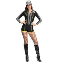 trajes cheerleading venda por atacado-Vestido de modelo de moto, menina de corrida, calças de motociclista, vestido de palco, sexy futebol bebê cheerleading traje