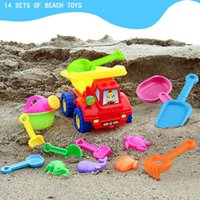Wholesale children sand buckets for sale - Group buy 11pcs Funny Kids Beach Sand Game Toys Set Shovels Rake Hourglass Bucket Children Outdoor Beach Playset Role Play Toy Kit
