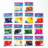 ingrosso palle di gelatina per il suolo-Oceano Baby Expansion Toy Crystal purea perline Perle di acqua decorazione di piante Fango di cristallo decorazioni per la casa Giocattoli per bambini IA751