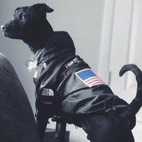 ingrosso maglioni di animale di modo-via Bandiera americana della moda vento e pioggia cani al guinzaglio nord Sup cani grande animale domestico copre Maglione collari K12