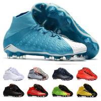 tierra blanda de futbol al por mayor-Zapatos de fútbol para hombre Botines Hypervenom Phantom III EA Sports FG footboos Zapatos Soft Ground Football Boots Rising Fast Pack botas Neymar