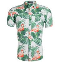 soie achat en gros de-Chemise d'impression Code Hawaii Man de style masculin de grande soie de jour de grande journée