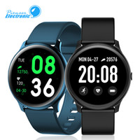 yeni fitness bandı toptan satış-Samsung ve Ios İçin Yeni KW19 Akıllı Watch Bilezik Band Tracker Dokunmatik 1.3 inç Ekran Çoklu Spor Modları Nabız Ölçümü