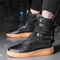 ingrosso scarpe da ginnastica sapato-High top sneakers Uomo Designer Hip Hop uomo stivali Casual Tenis Sapato Masculino zapatos hombre Basket Uomo leggero traspirante Scarpe