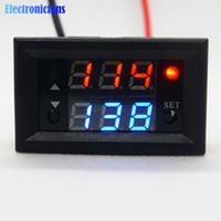 verzögerungsrelaismodul großhandel-Rot Blau DC 12 V Dual Display Zeitrelais Modul Zeitrelais Mini LED Digital Timer Timing Delay Cycle Control