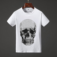 Wholesale cotton t shirts print resale online - 19SS Mens Designer T Shirts Multiple Skull Fashion Printing Anti Shrink Quick Dry Mens Luxury Designer Clothing