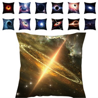 Wholesale black patterned cushions covers resale online - Cosmic Black Hole Series Cushion Cover Mysterious Explosion Peach Skin Cushion Cover Black Hole Pattern Print Pillowcase Sofa Home Decor