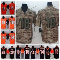 badf0c542 2019 Camo Salute to Service Cincinnati 18 Bengals AJ Green Football Jerseys  28 Joe Mixon 14 Andy Dalton Vapor Untouchable Stitched Shirts