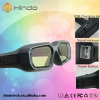 Wholesale Active shutter Type D glasses for DLP LINK D DLP Projector support hz