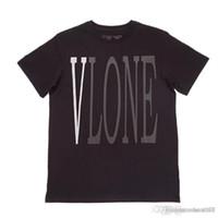 buenas zapatillas de skate al por mayor-19SS V gris camiseta de skate de manga corta vestido zapatos de skate VLON buena camiseta casual de algodón de calidad neutral camiseta