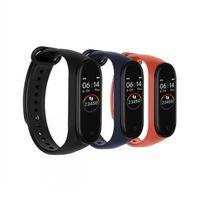 o mais novo rastreador venda por atacado-Mais novo m4 Inteligente Pulseira Heart Rate Touch Presente Monitor de Sono Rastreador De Fitness Pulseira Bluetooth Pedômetro Esporte Relógio para Android ios