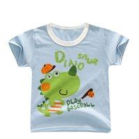 bebek bebek tişörtü toptan satış-BibiCola 2019 bebek erkek t-shirt karikatür yaz giysileri bebek toddle pamuk üstleri kıyafetler için moda bebek tees yenidoğan kostüm