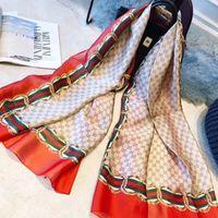 silk taschentücher damen großhandel-2018 mode schal schals für frauen blumendruck satin seidenschal weiblich 180x90 cm lange tuch halstuch schal kopf für damen
