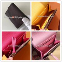 Wholesale free discount cards for sale - High Quality Short wallets Original Box Women brand designer discount drop shipping