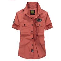 roupas de verão agradável venda por atacado-Cool Nice Marca Casual estilo camisa dos homens de roupas de Verão de Alta Qualidade de algodão curto camisa masculina Moda mens camisa